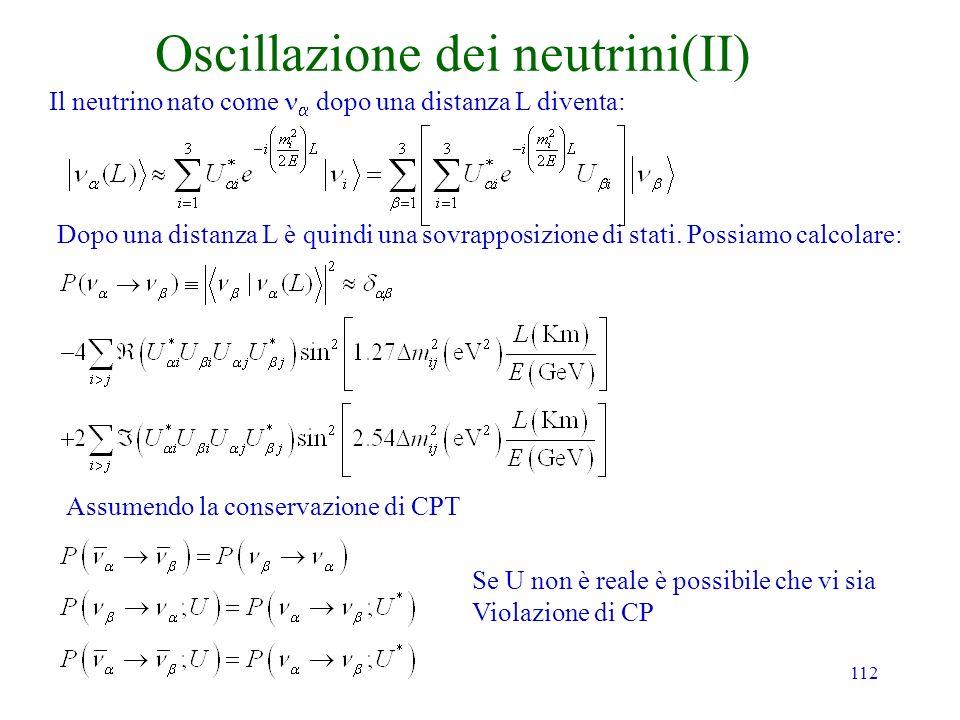 Oscillazione dei neutrini(II)