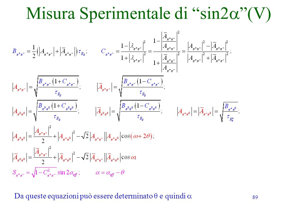 Misura Sperimentale di sin2a (V)