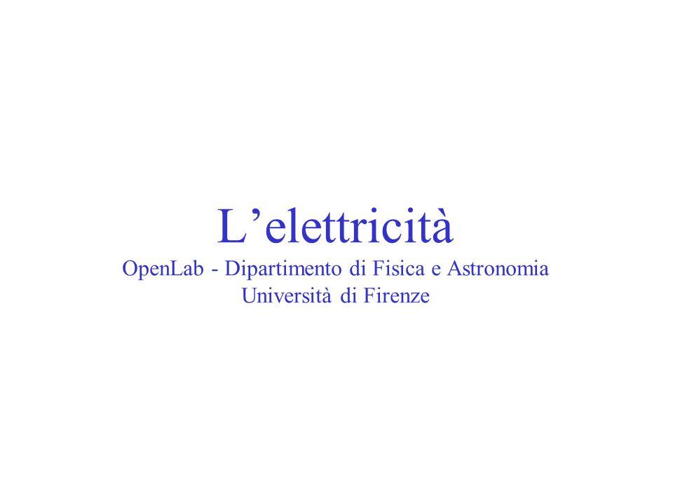 L'elettricità OpenLab - Dipartimento di Fisica e Astronomia Università di Firenze