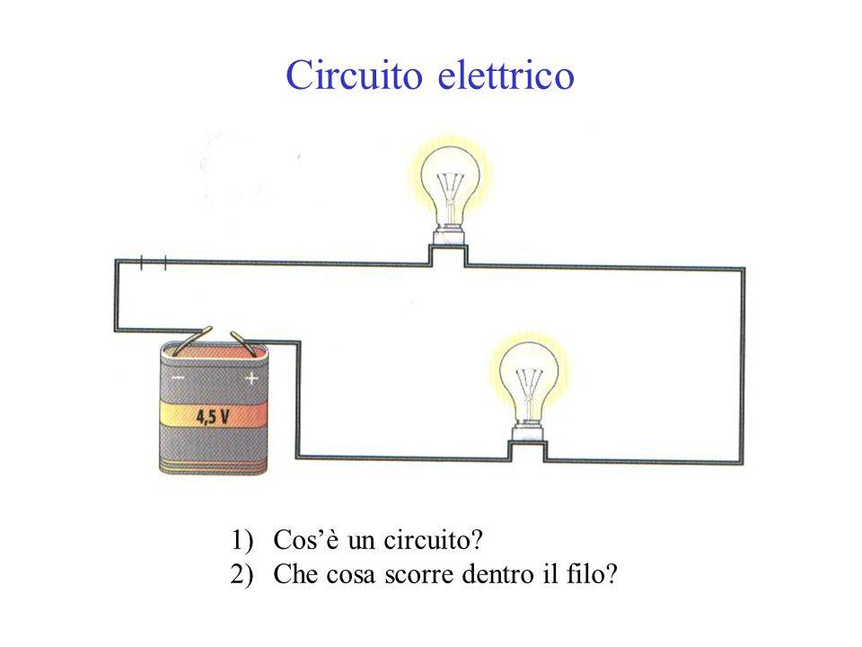 Circuito elettrico Cos'è un circuito Che cosa scorre dentro il filo