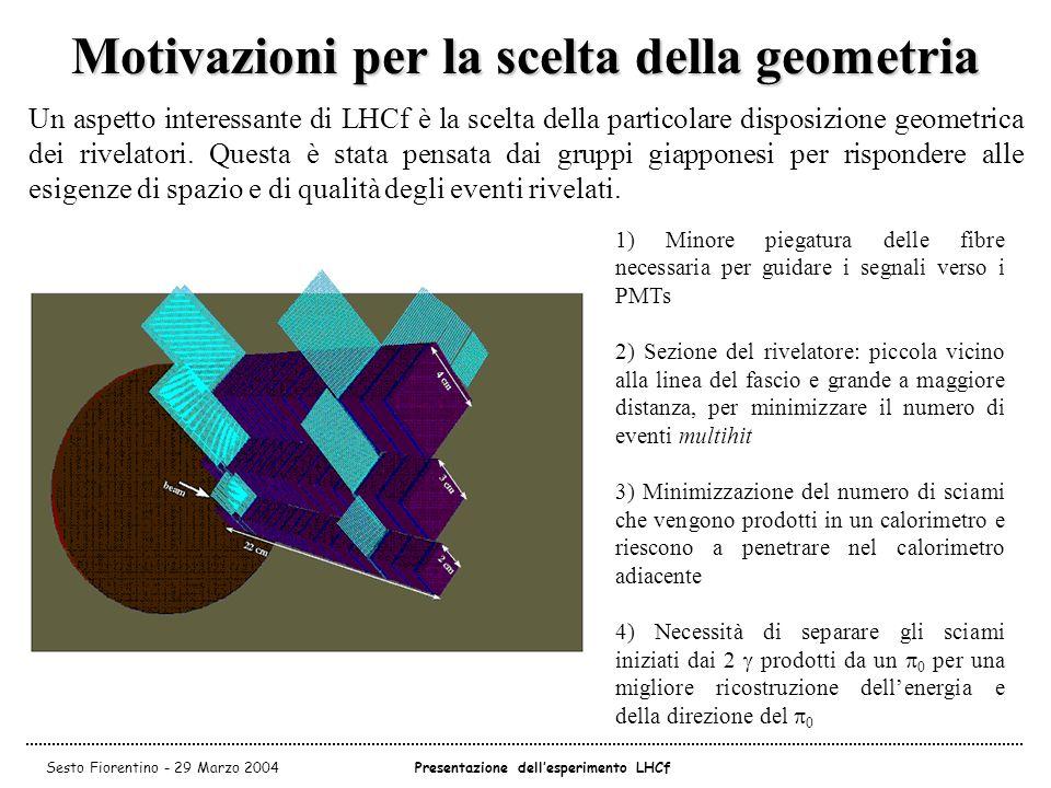 Motivazioni per la scelta della geometria