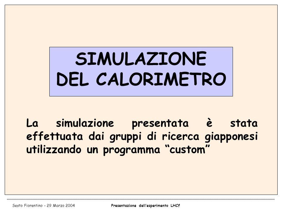SIMULAZIONE DEL CALORIMETRO