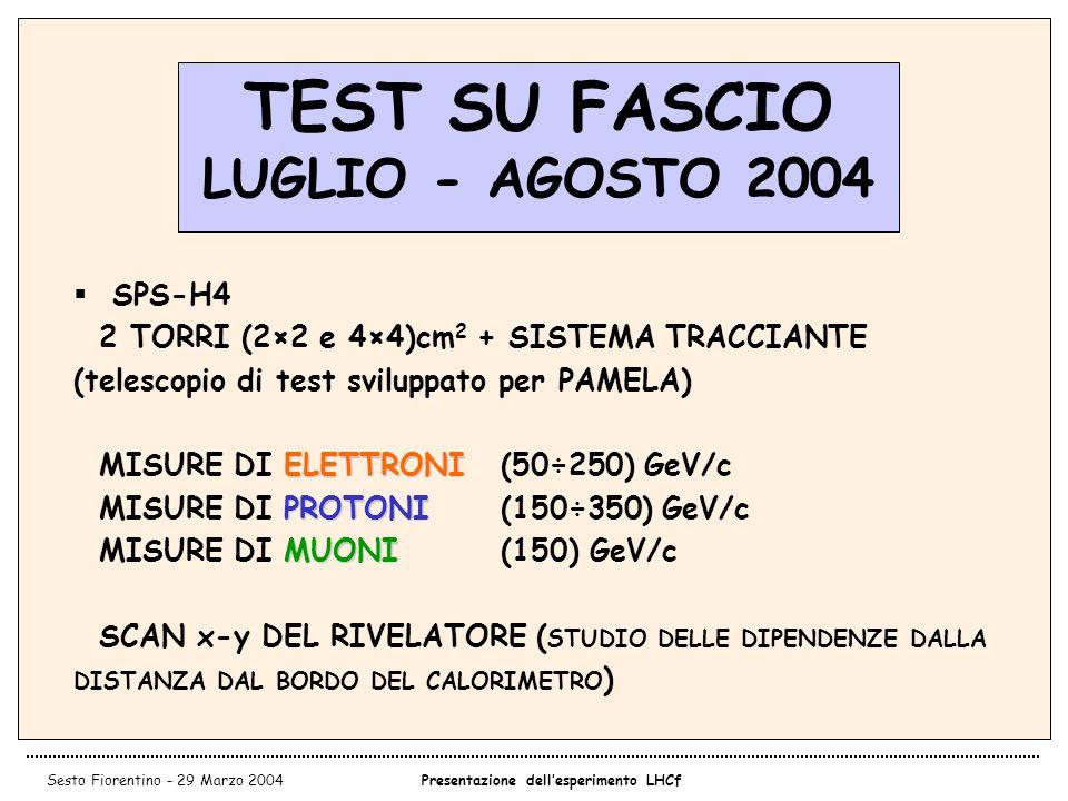 TEST SU FASCIO LUGLIO - AGOSTO 2004