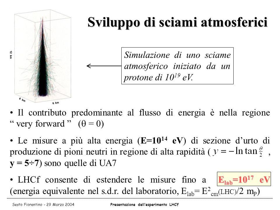 Sviluppo di sciami atmosferici