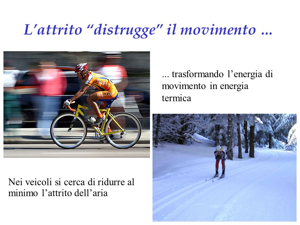L'attrito distrugge il movimento …