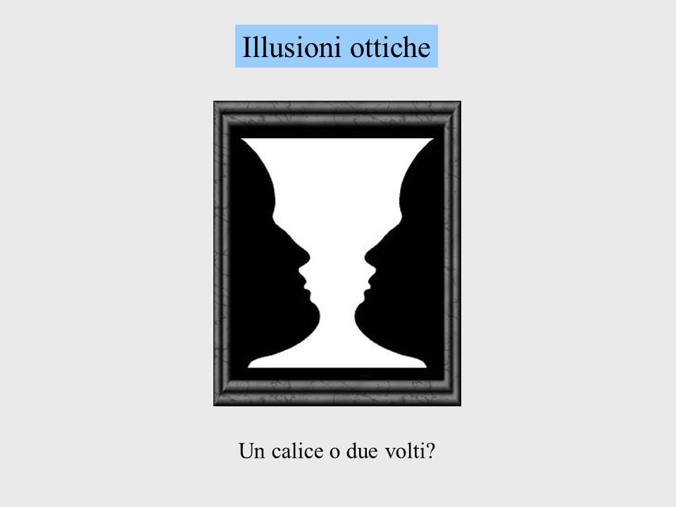 Illusioni ottiche Un calice o due volti