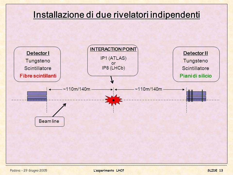 Installazione di due rivelatori indipendenti