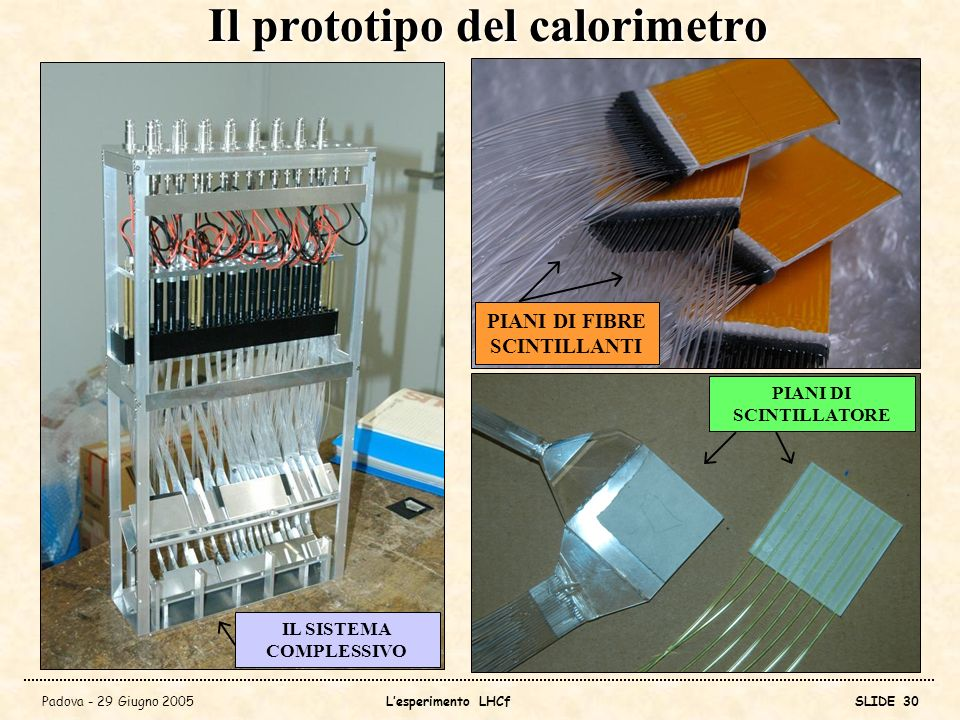 Il prototipo del calorimetro