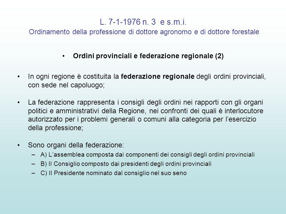 Ordini provinciali e federazione regionale (2)