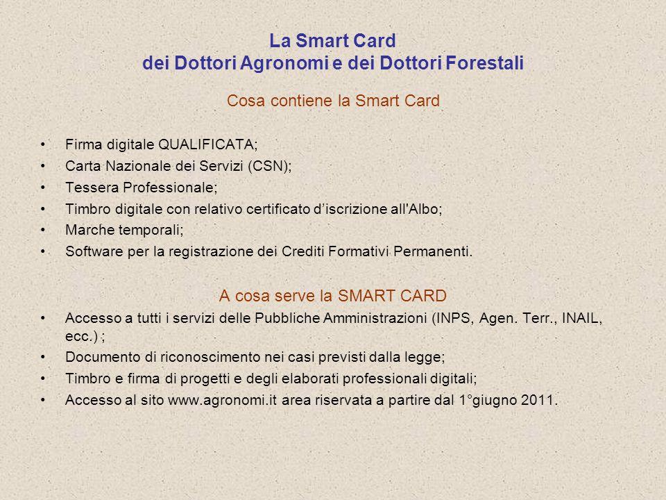La Smart Card dei Dottori Agronomi e dei Dottori Forestali