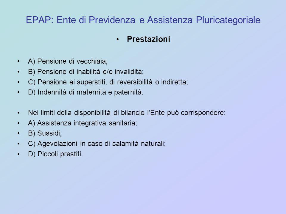 EPAP: Ente di Previdenza e Assistenza Pluricategoriale