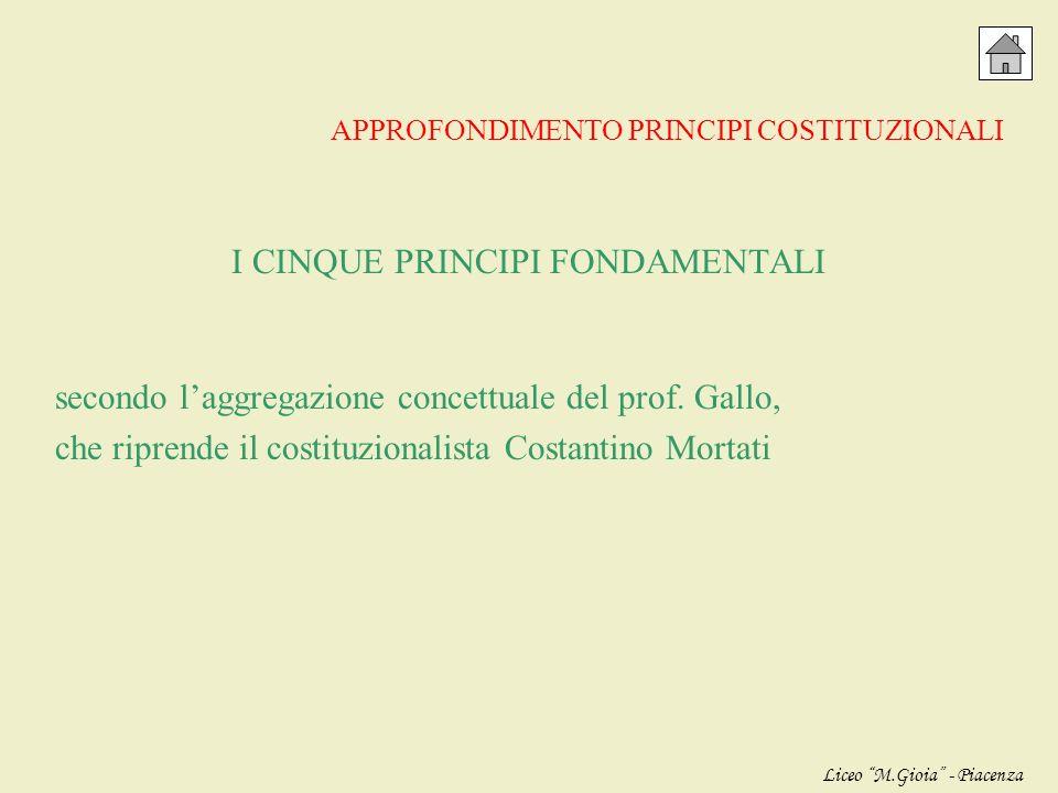 I CINQUE PRINCIPI FONDAMENTALI