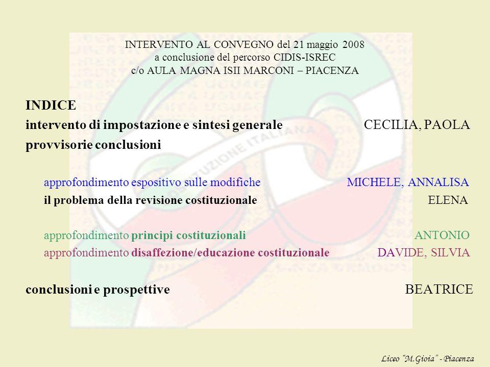 intervento di impostazione e sintesi generale CECILIA, PAOLA