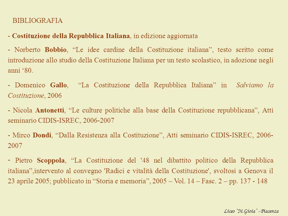- Costituzione della Repubblica Italiana, in edizione aggiornata