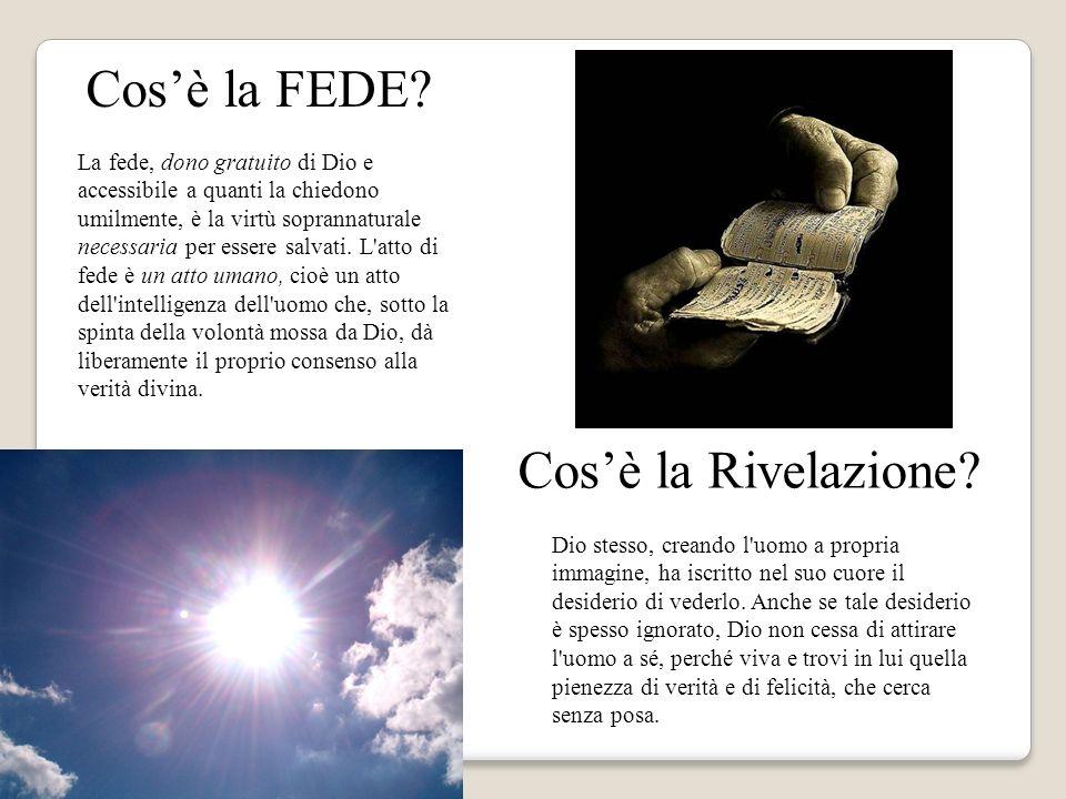 Cos'è la FEDE Cos'è la Rivelazione Immagine di una luce abbagliante