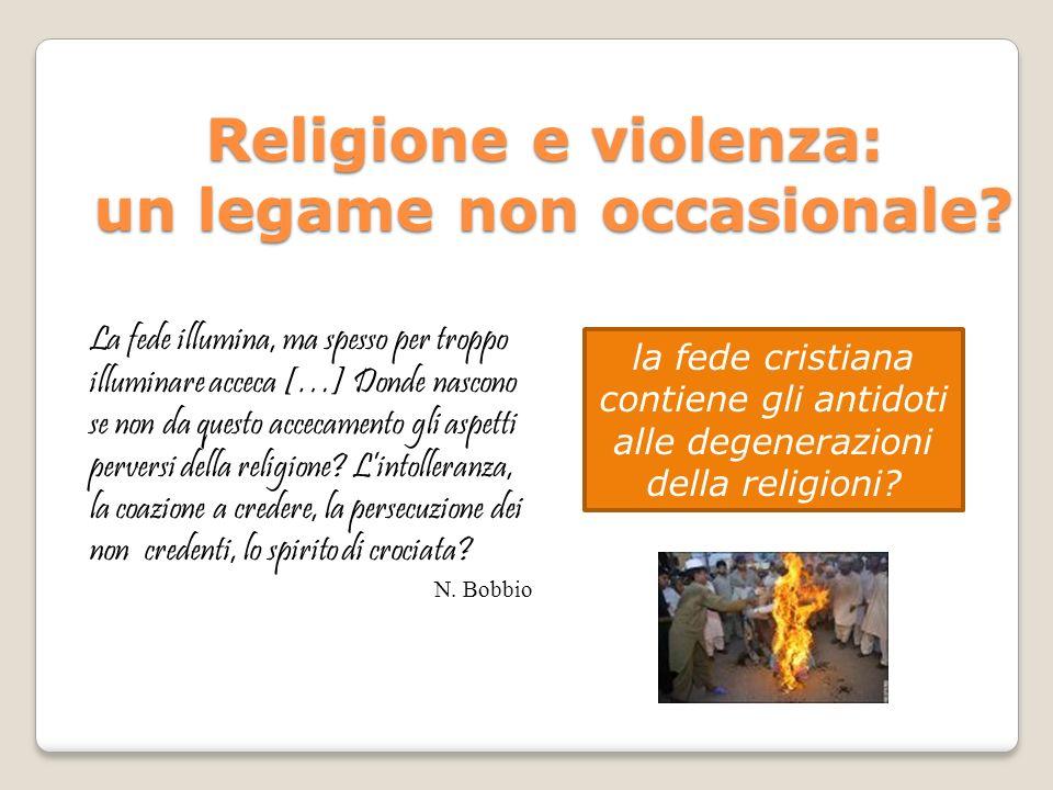 Religione e violenza: un legame non occasionale