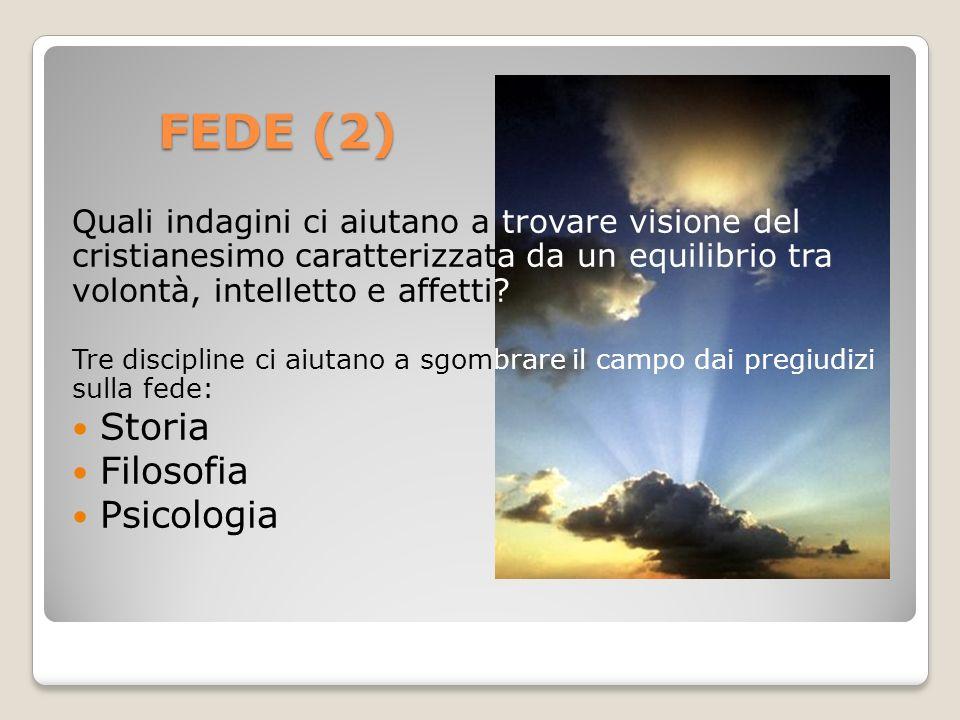 FEDE (2) Storia Filosofia Psicologia