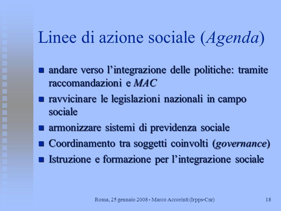 Linee di azione sociale (Agenda)