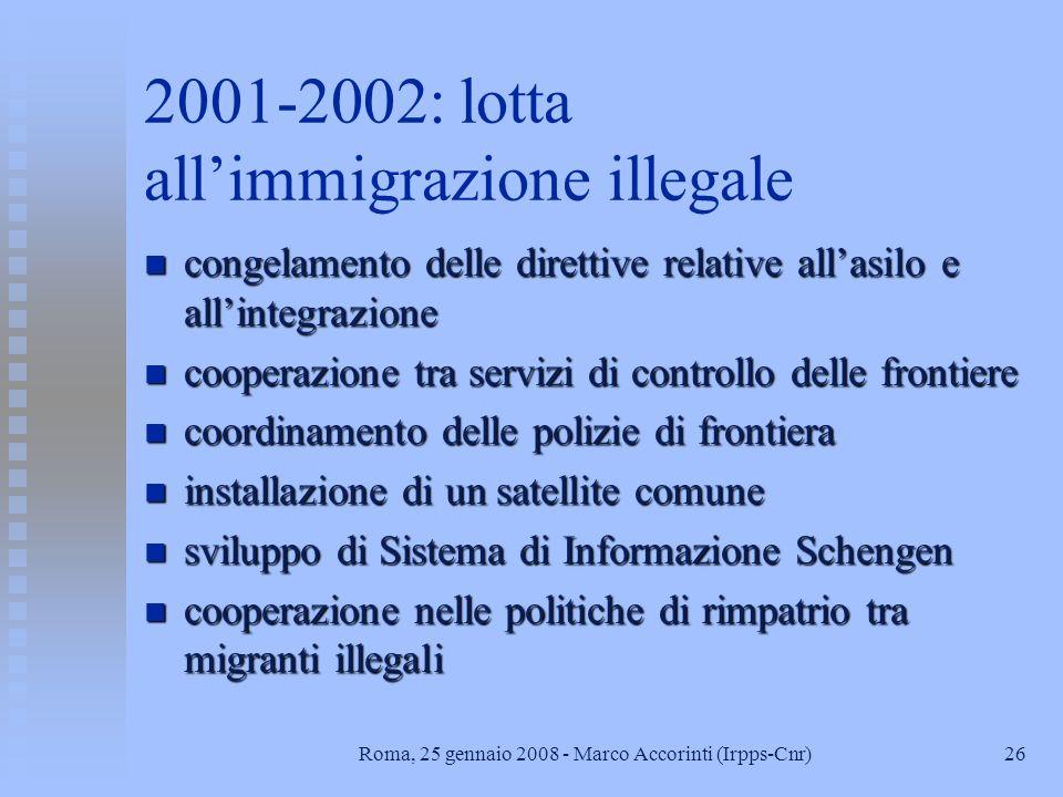 2001-2002: lotta all'immigrazione illegale
