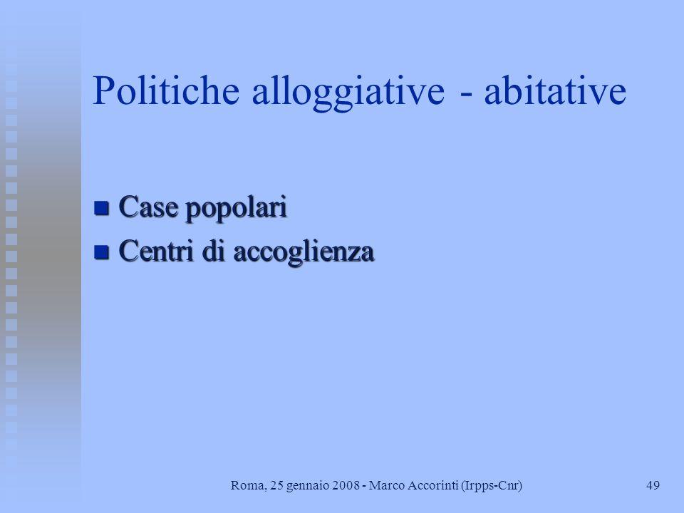 Politiche alloggiative - abitative