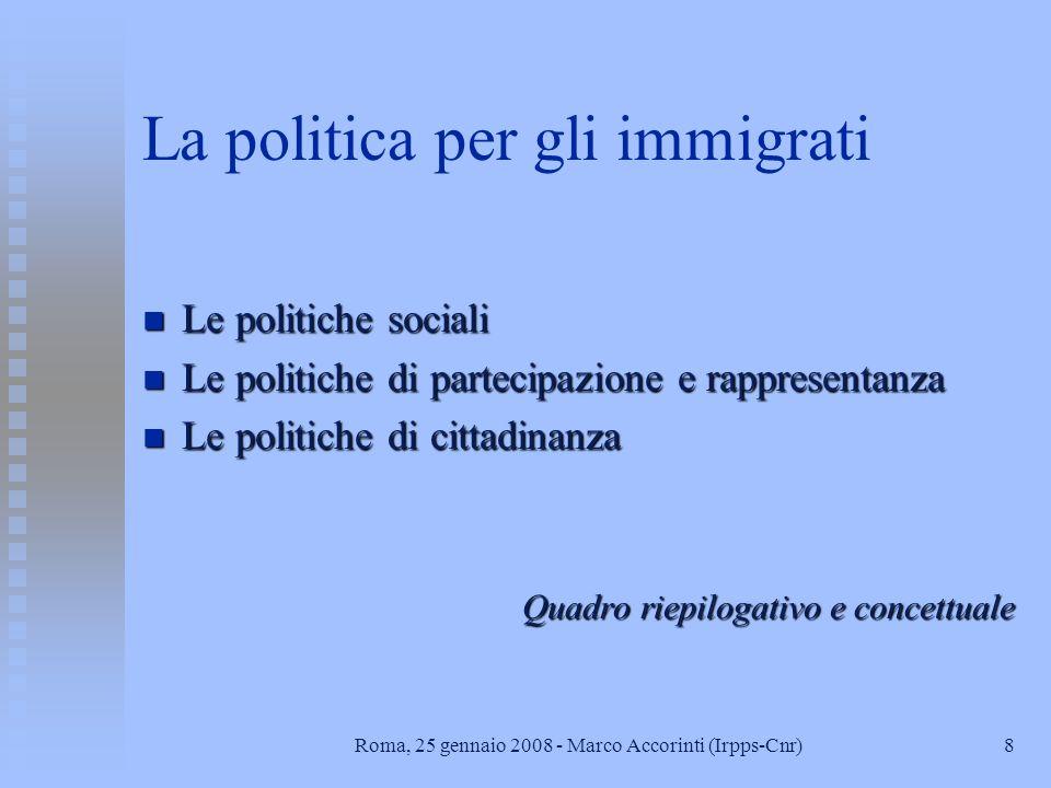 La politica per gli immigrati