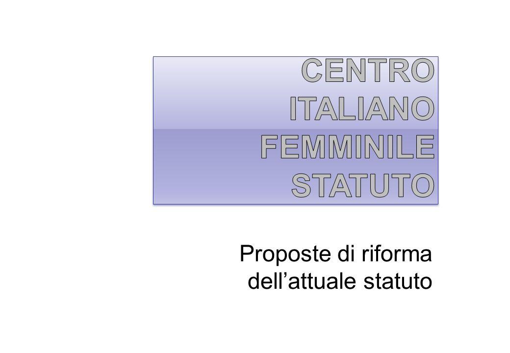 Centro Italiano Femminile STATUTO