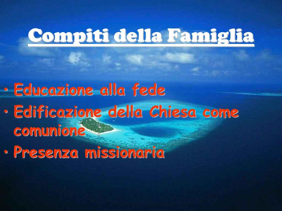 Compiti della Famiglia