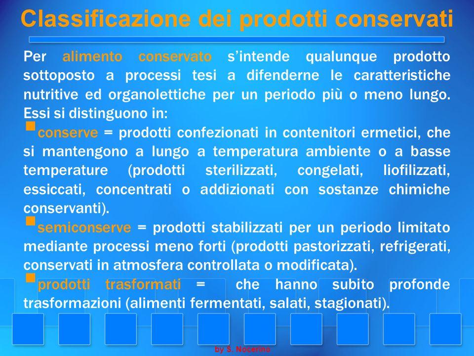 Classificazione dei prodotti conservati