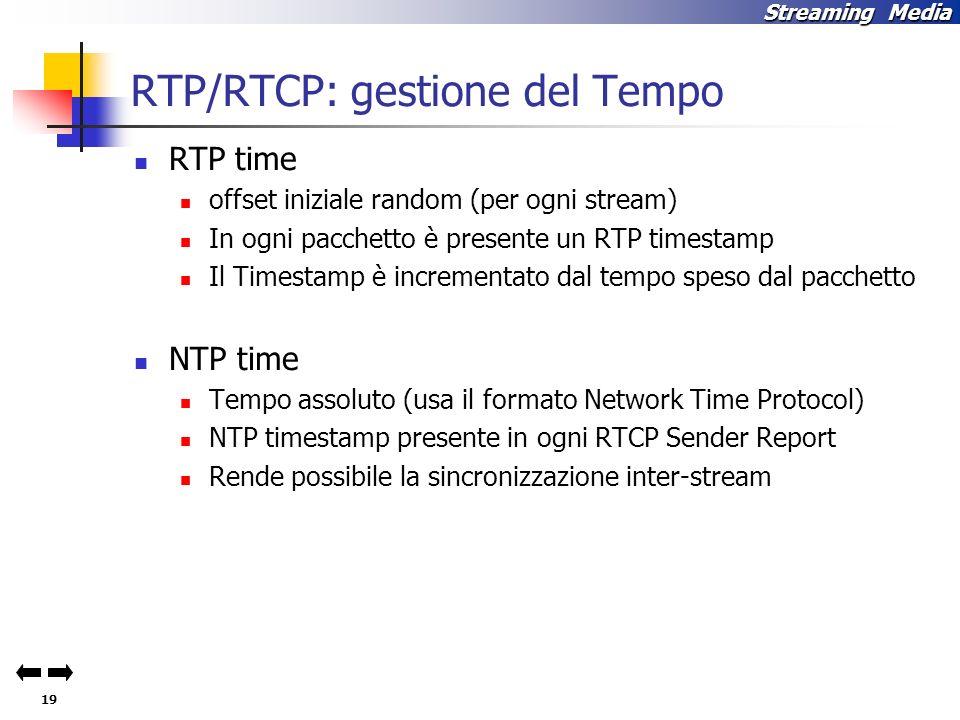 RTP/RTCP: gestione del Tempo