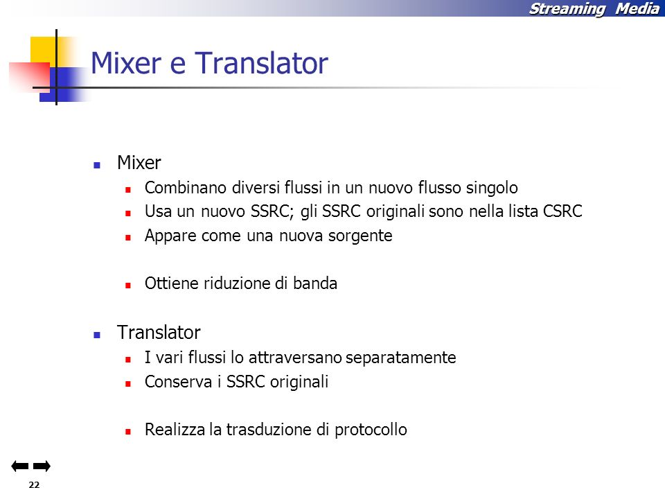 Mixer e Translator Mixer Translator