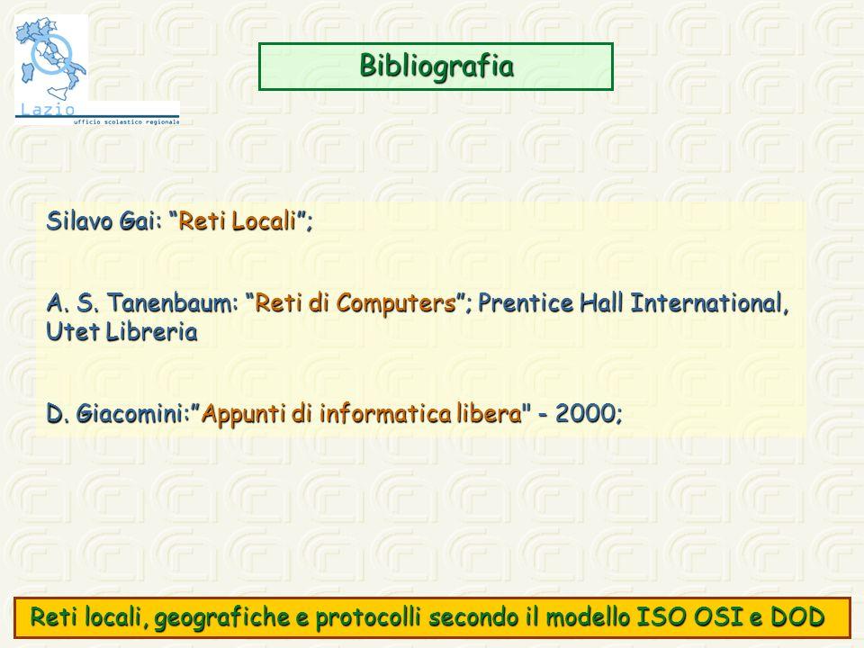 Bibliografia Silavo Gai: Reti Locali ;