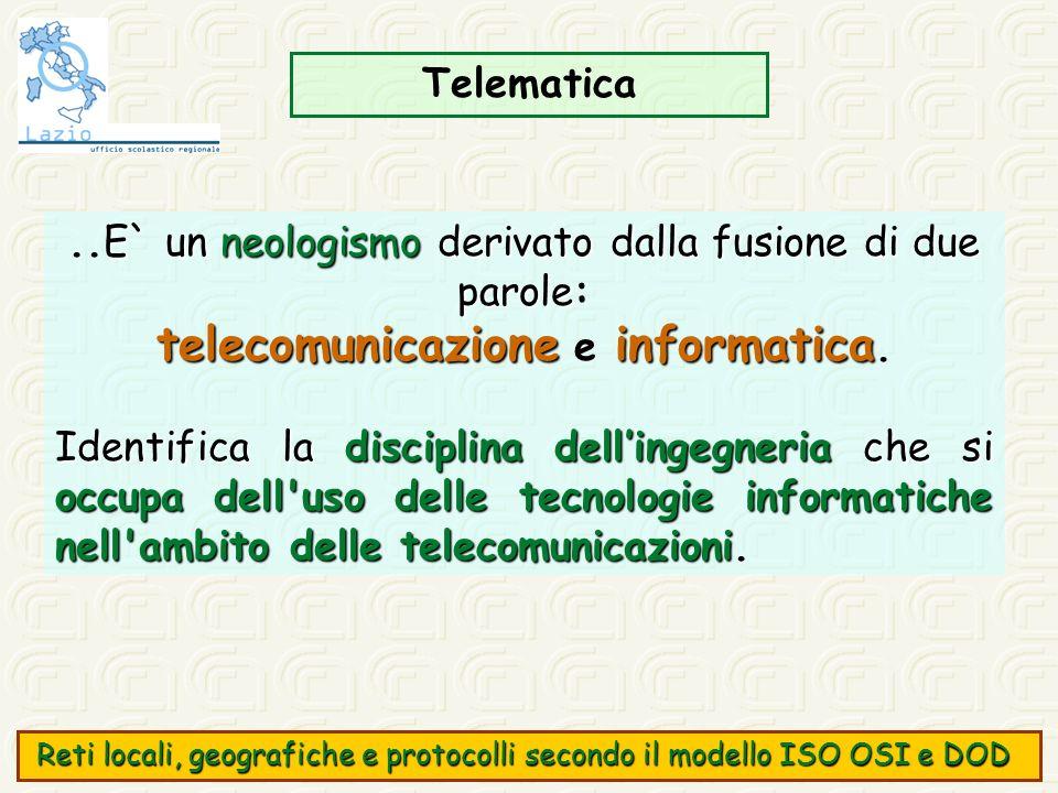 telecomunicazione e informatica.