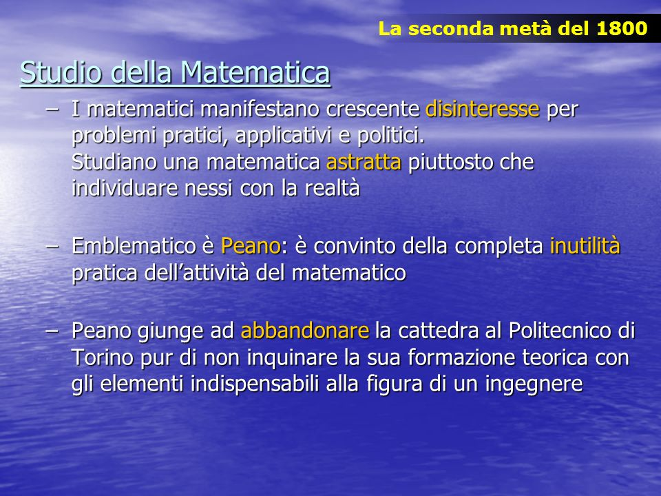 Studio della Matematica