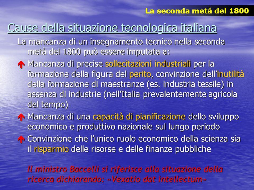 Cause della situazione tecnologica italiana