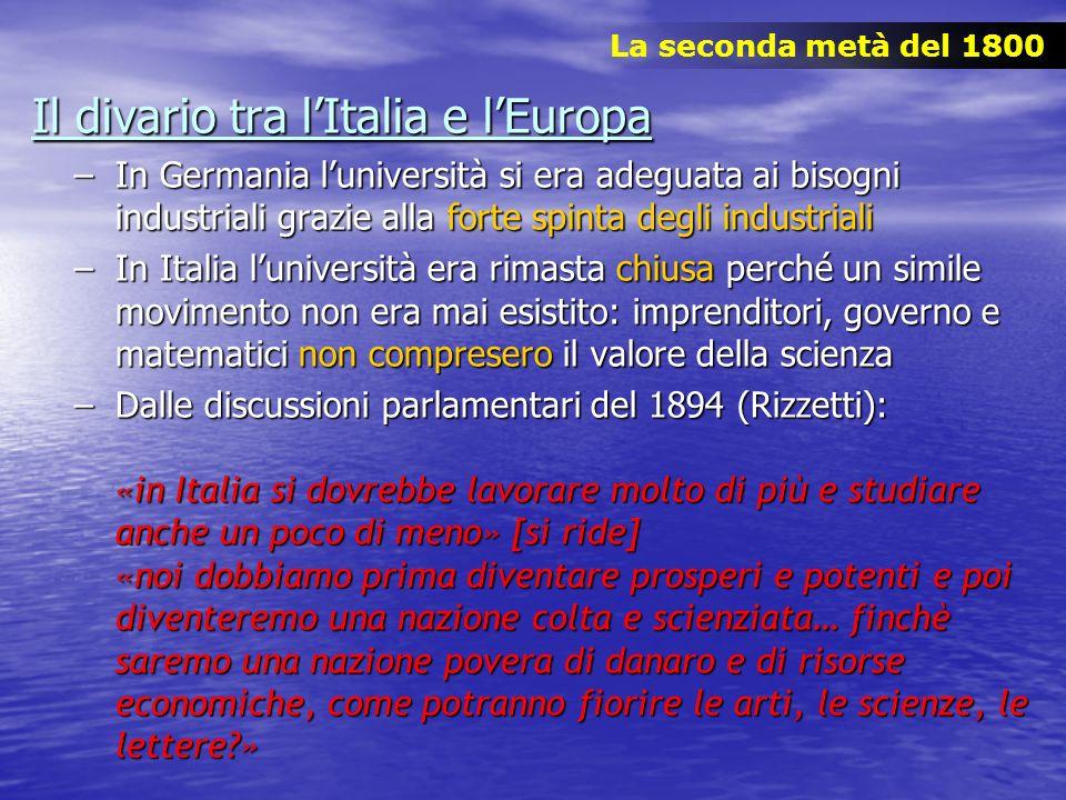Il divario tra l'Italia e l'Europa