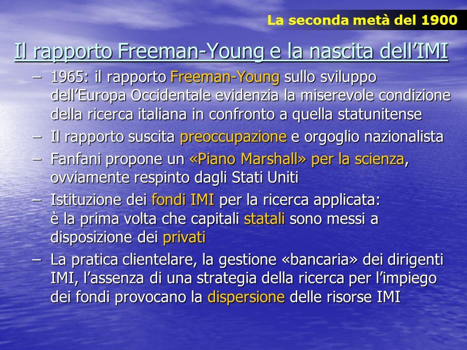 Il rapporto Freeman-Young e la nascita dell'IMI