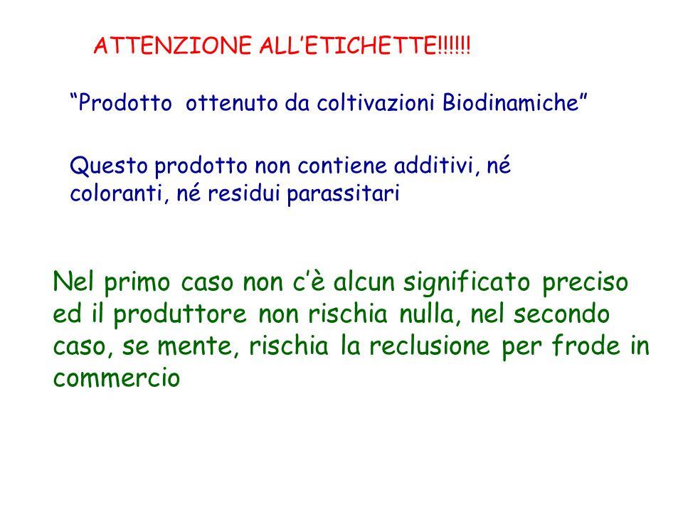 ATTENZIONE ALL'ETICHETTE!!!!!!