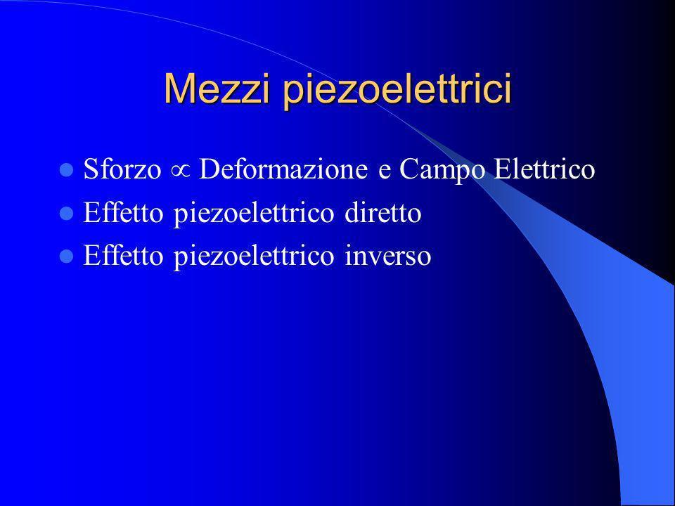 Mezzi piezoelettrici Sforzo  Deformazione e Campo Elettrico