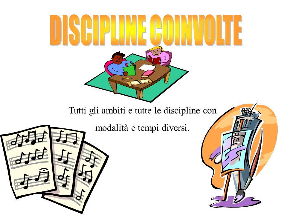 DISCIPLINE COINVOLTE Tutti gli ambiti e tutte le discipline con