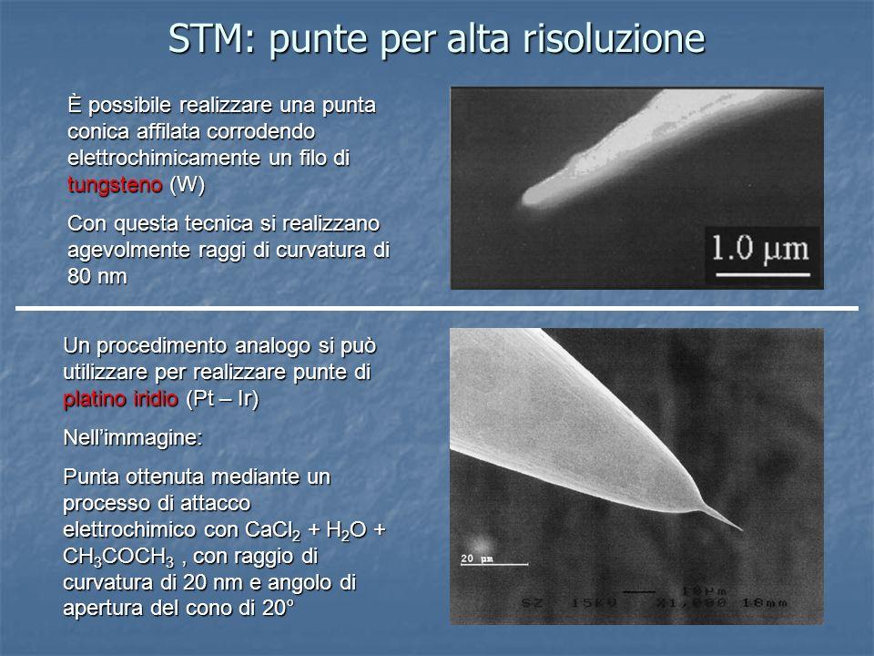 STM: punte per alta risoluzione