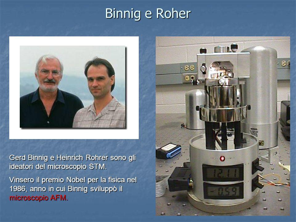 Binnig e Roher Gerd Binnig e Heinrich Rohrer sono gli ideatori del microscopio STM.