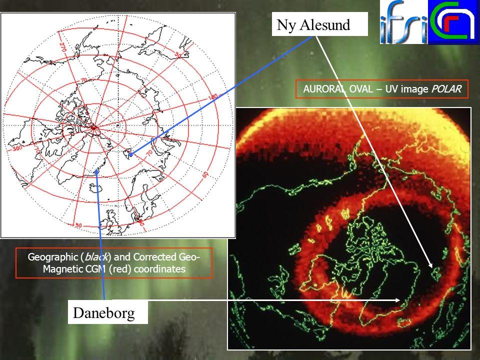 Ny Alesund Daneborg AURORAL OVAL – UV image POLAR