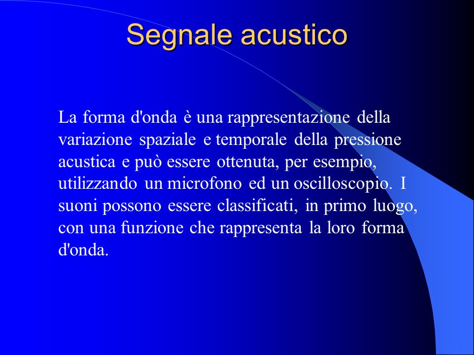 Segnale acustico