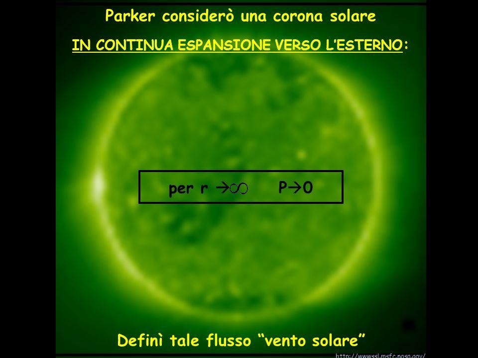 Parker considerò una corona solare