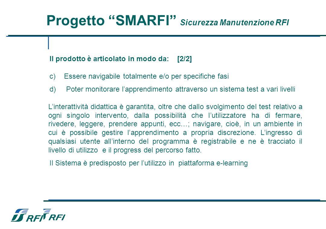 Progetto SMARFI Sicurezza Manutenzione RFI