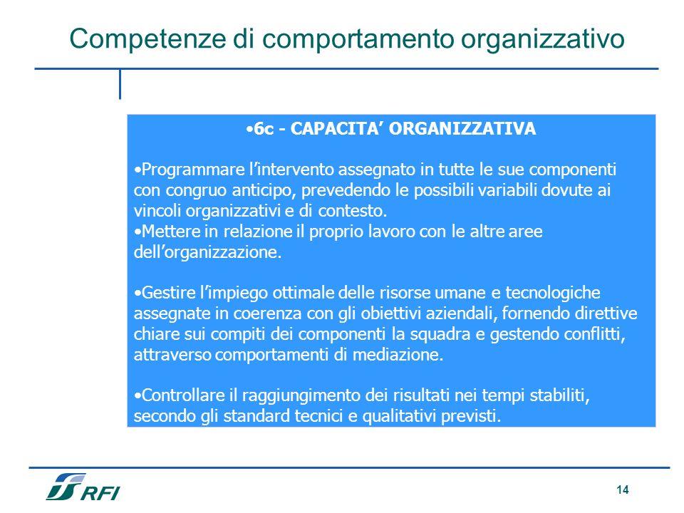 6c - CAPACITA' ORGANIZZATIVA