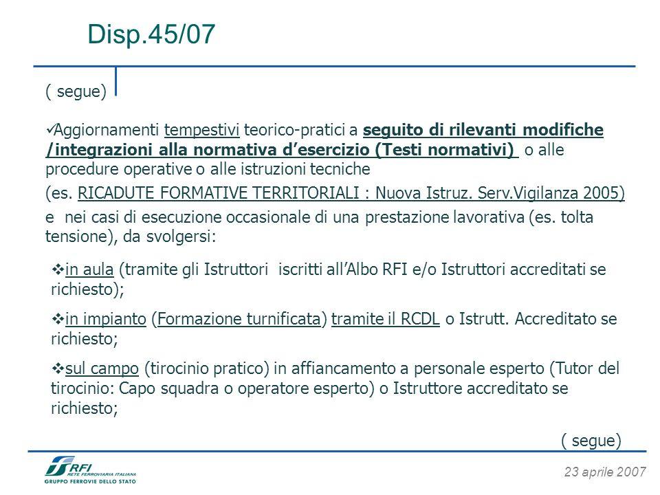 Disp.45/07 ( segue)