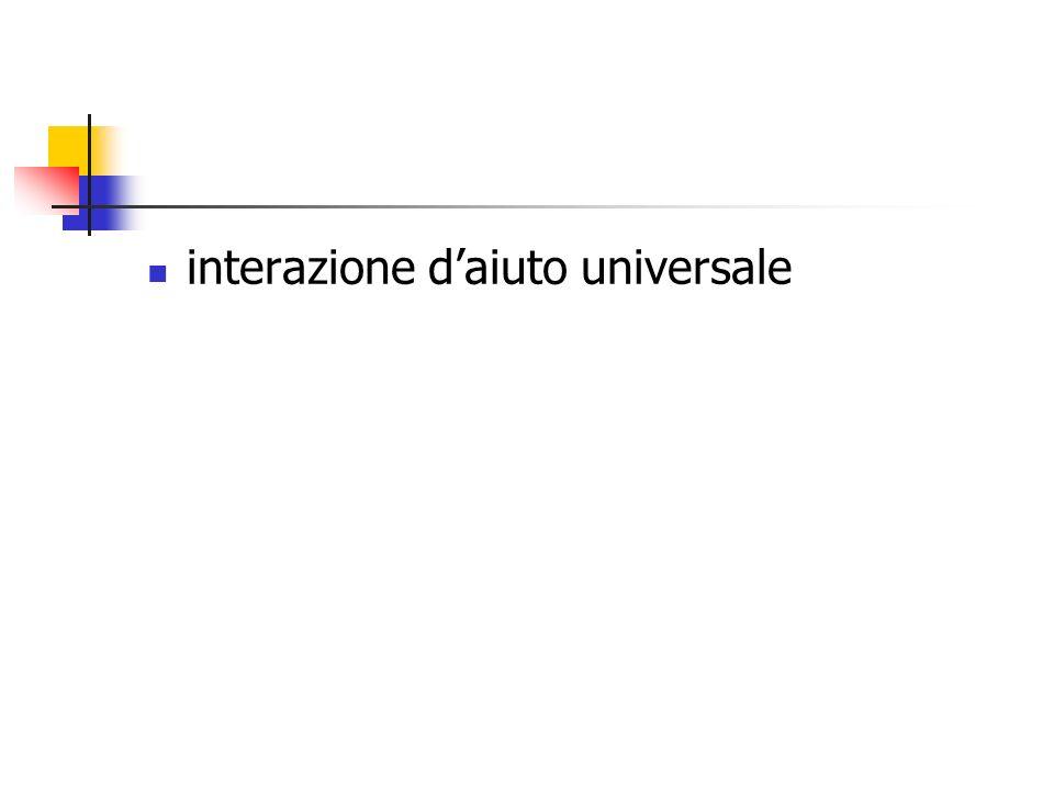 interazione d'aiuto universale