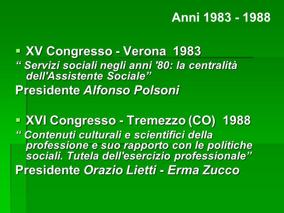 Presidente Alfonso Polsoni XVI Congresso - Tremezzo (CO) 1988