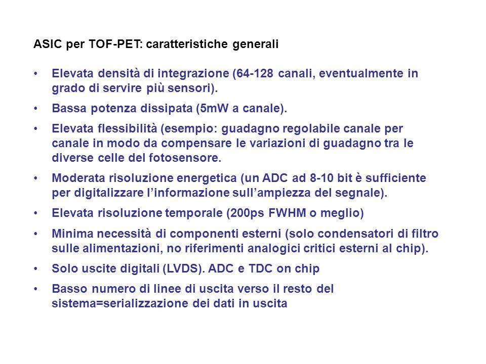 ASIC per TOF-PET: caratteristiche generali